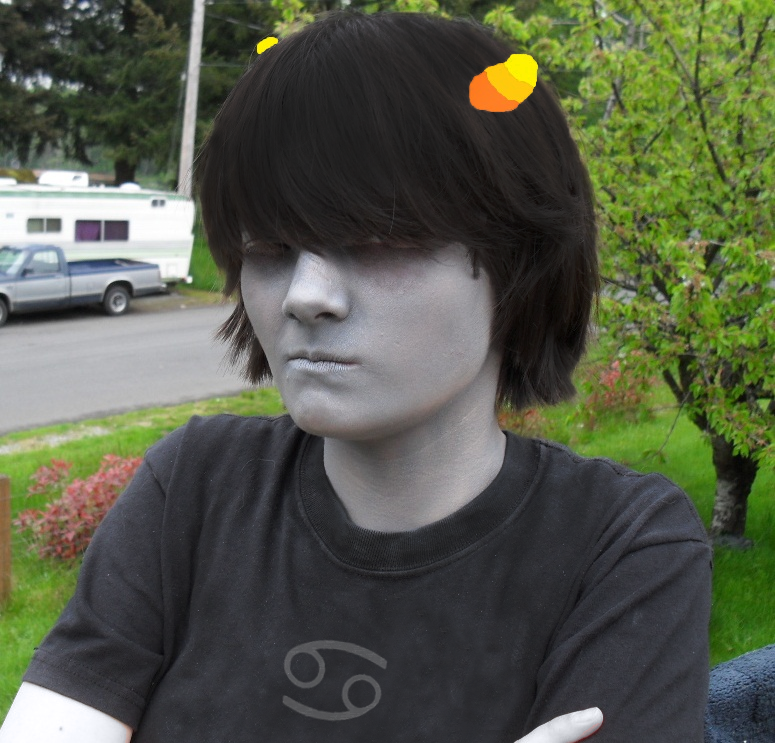 Karkat Cosplay Horns Karkat Cosplay by Kausawolf