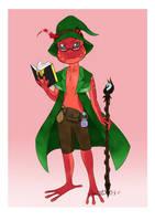 Barosus the Frog Wizard by JhanLi