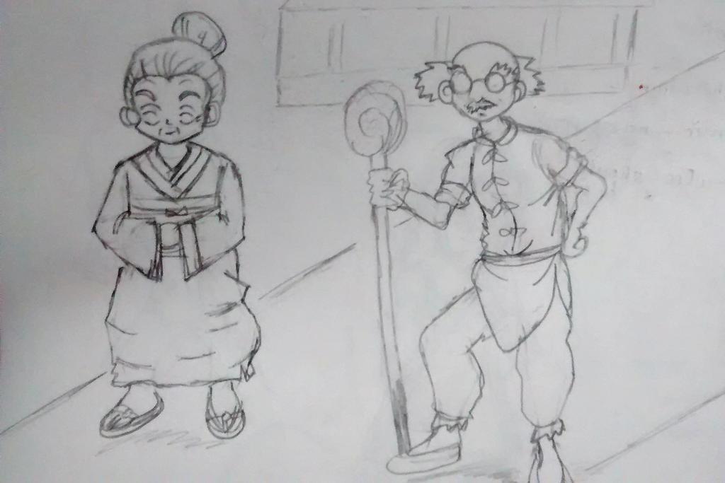 old lovely couple.. by mikagami7tokiya