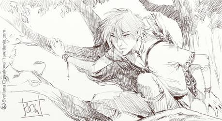 Sketchblog003 Elf Tree by svetlania