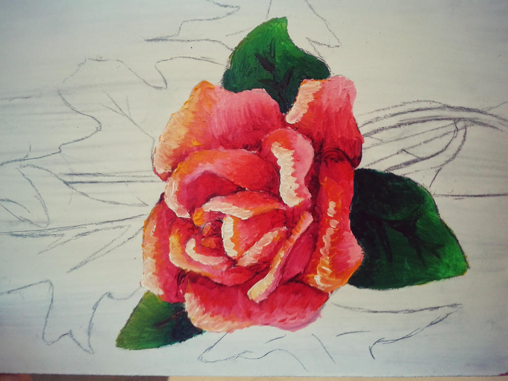 Flower painting by artlunatic23