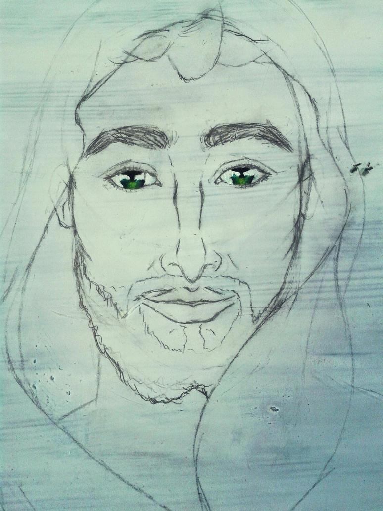 Jesus painting #1 by artlunatic23