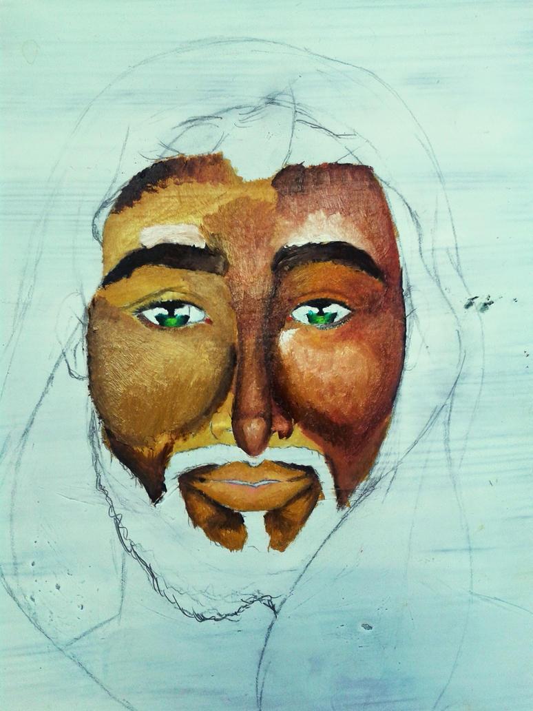 Jesus painting #2 by artlunatic23