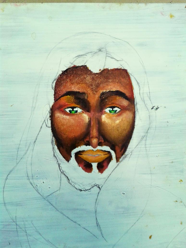 Jesus painting #3 by artlunatic23