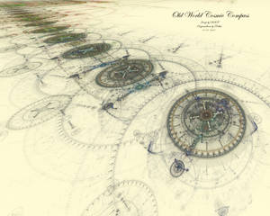 Old World Cosmic Compass - 1a