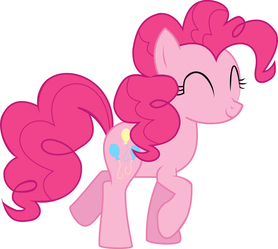 Happy trotting Pinkie Pie Vector by CaNoN-lb