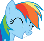 Rainbow Dash agrees with a smile!