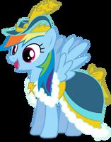 Rainbow Dash in Coronation Dress by CaNoN-lb