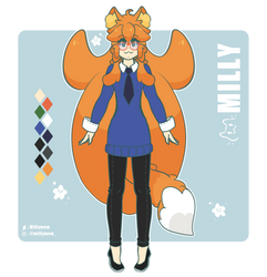Milly - Reference sheet by Millymew