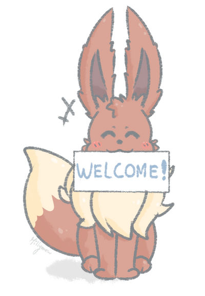 Eevee used welcome sign !