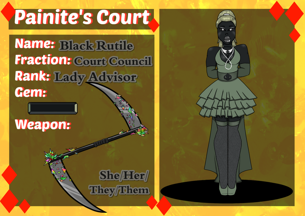 Painite's Court: Black Rutile's Application by WhisperingIllusion