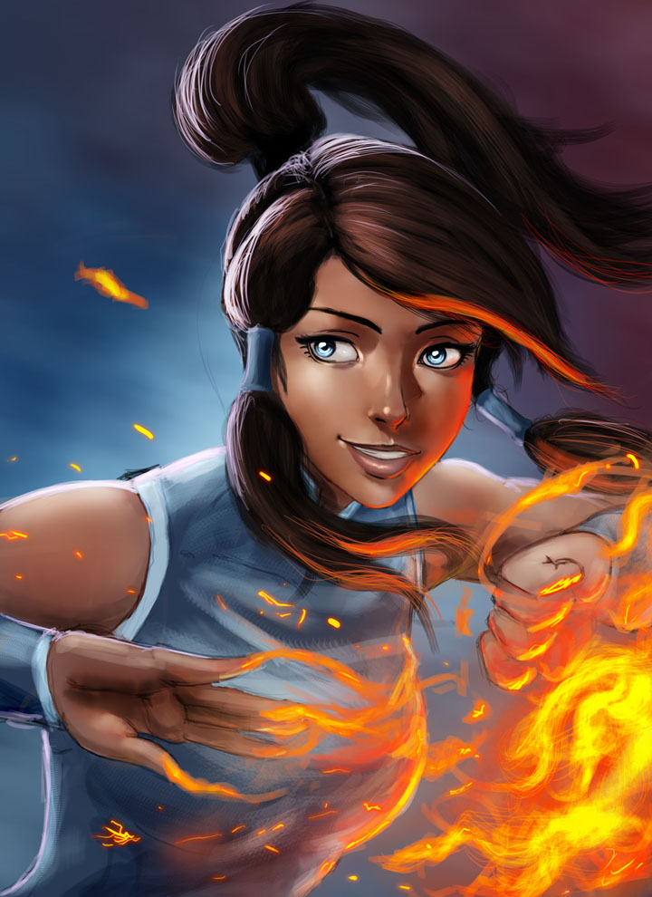 fire bending Korra by Raichiyo33