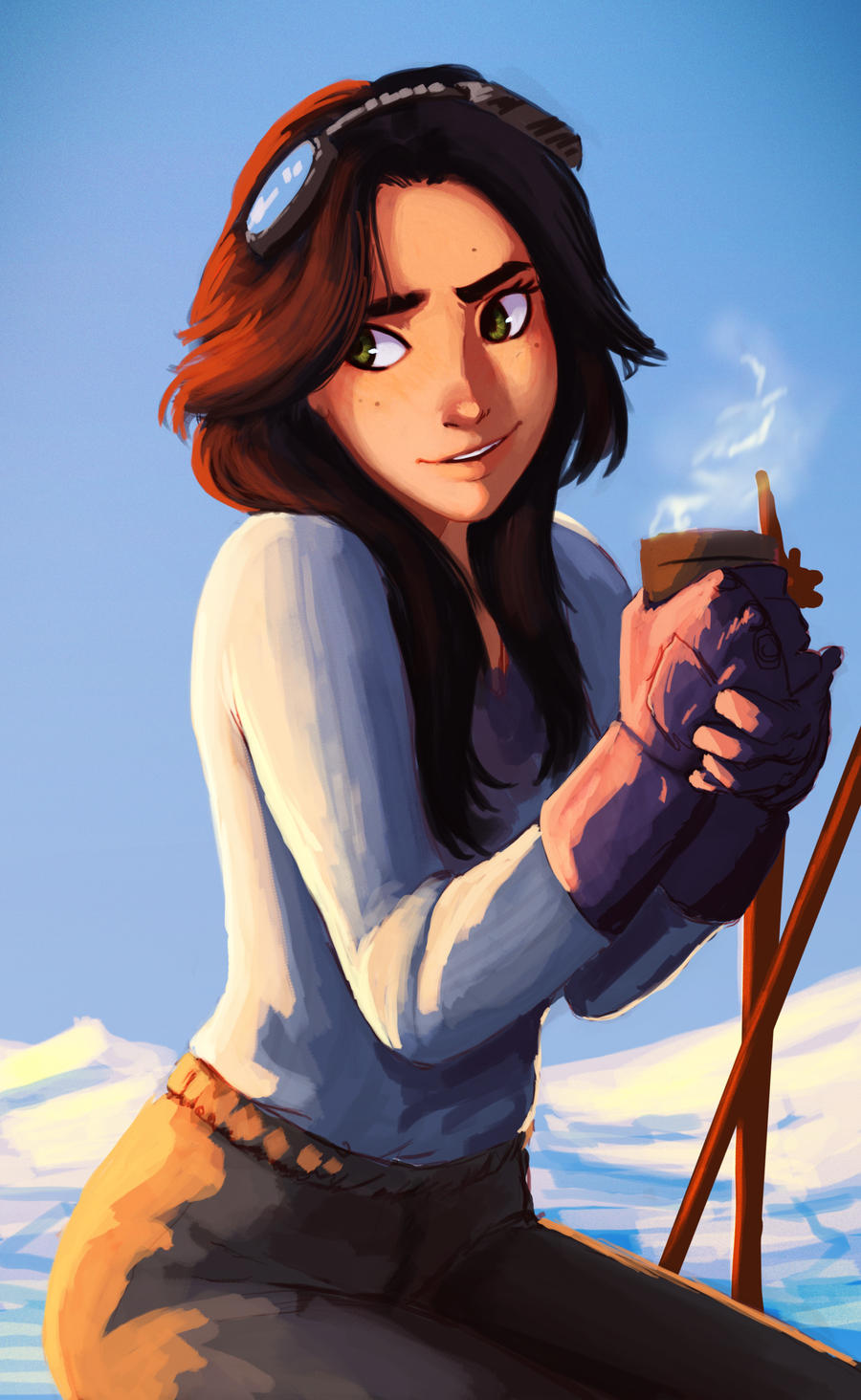 It is a picture of Irresistible Brown Haired Girl Drawing