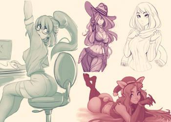 Dumpin' doodles by Raichiyo33