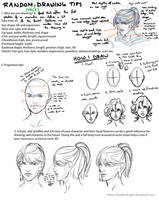 Random Face Drawing Tips by ShadesofNight