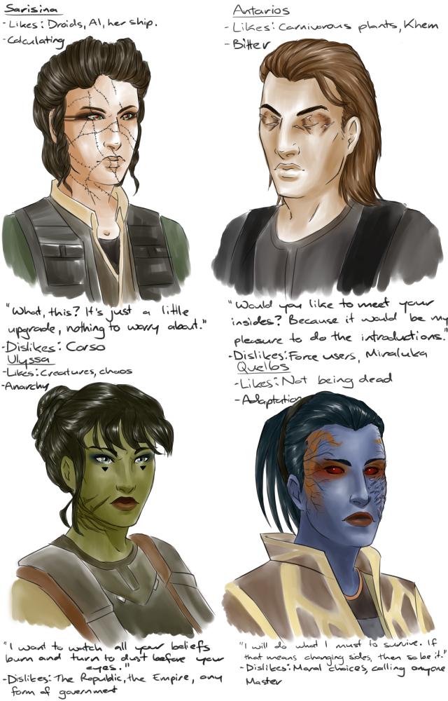 ToR characters, by ShadesofNight