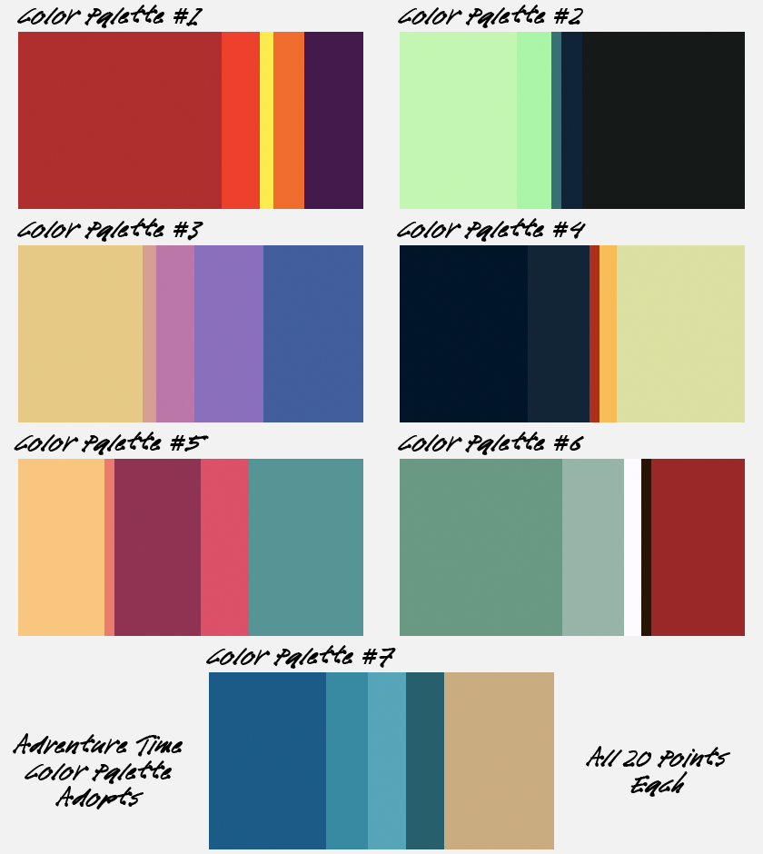 Adventure time color palette adoptables by ask the gay for Color palette com