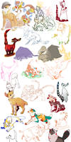 May 2011 Doodle Dump by cheepers