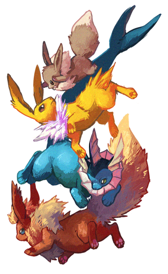 Eevee Family by cheepers