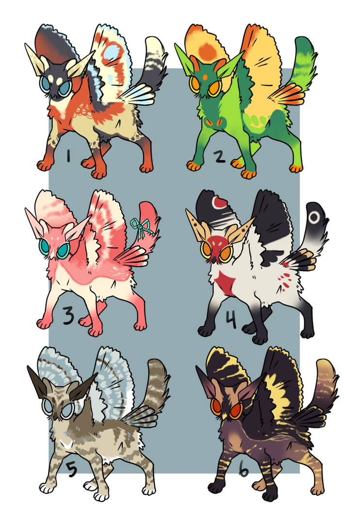Moffin Adoptables by cheepers