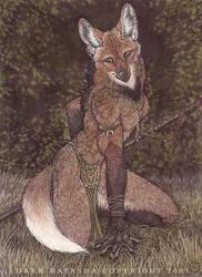 Maned Wolf by darknatasha
