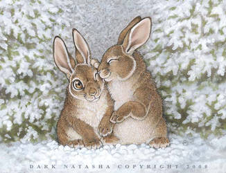 Snow bunnies by darknatasha