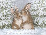 Snow bunnies by darknatasha