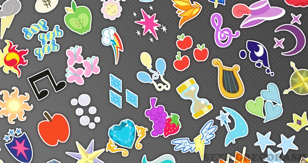 MLP Cutie Mark Wallpaper By Reachyourlimits