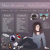 Meet the Artist .: 2019 :. by Asaki-feather