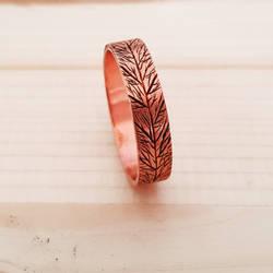 Engraved Leafvein ring