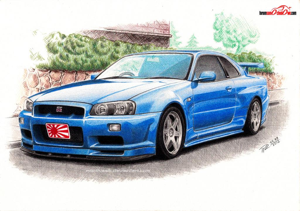 Cartoon Nissan Skyline Nissan Skyline R34 by