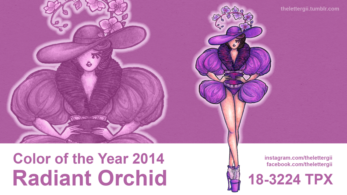 Color of the Year 2014: Radiant Orchid by thelettergii on DeviantArt