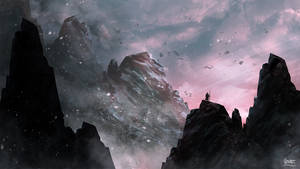 Mountains and Ashes - Speed Painting