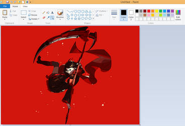 My attempt for Drawing Ruby Rose at MS.Paint by HeyY0u