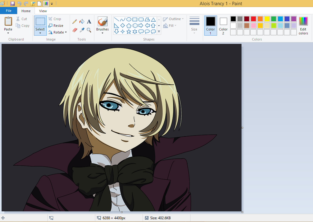 My attempt for Drawing Alois Trancy at Ms.Paint by HeyY0u on DeviantArt