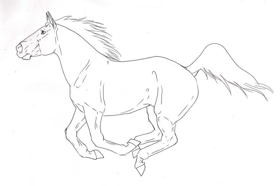 Horses running drawing - photo#20