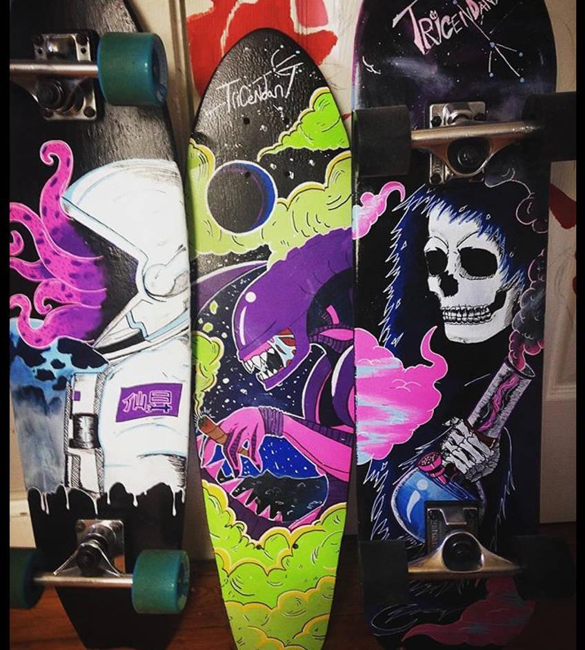 Custom skateboard decks by Tricendant on DeviantArt