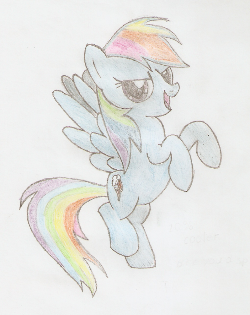 Rainbow Dash, colored by PPDraw