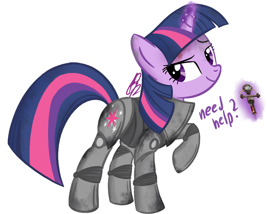 Twilight in power armor by PPDraw