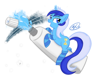 Colgate and her toothpaste by PPDraw