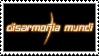 Disarmonia Mundi stamp by Horsesnhurricanes
