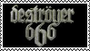 Destroyer 666 stamp by Horsesnhurricanes