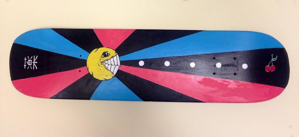 Pacman Skateboard by whereisthefall