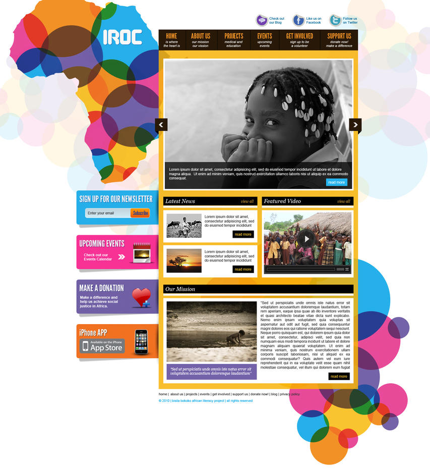 iroc for africa social justice by bojok mlsjr d39o64i Web Interface Roundup of Web Design Inspiration