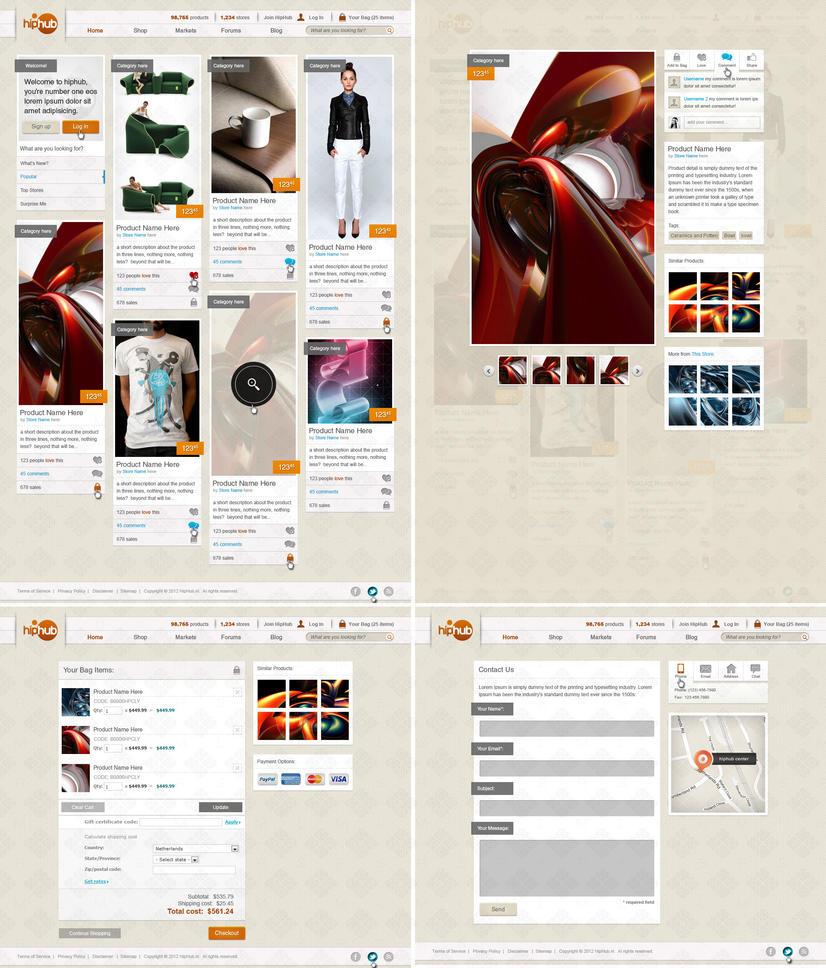 Responsive Web Design Shopping Site by bojok-mlsjr