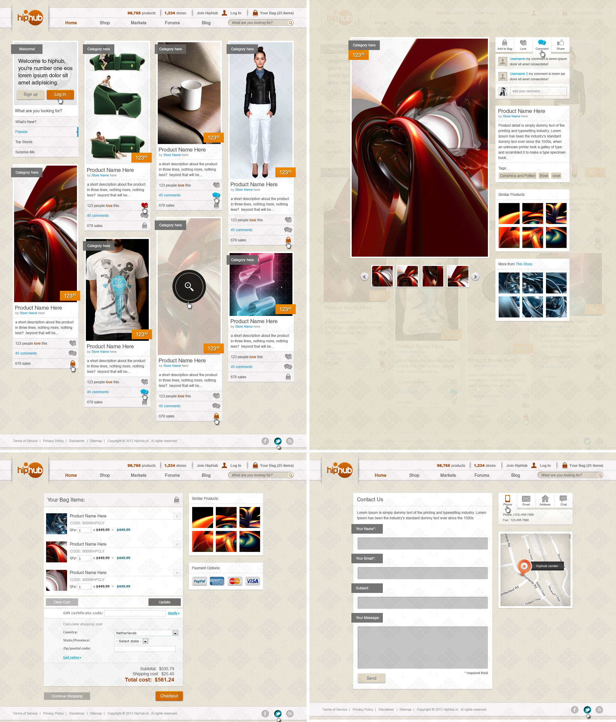 Responsive Web Design Shopping Site by bojok-mlsjr