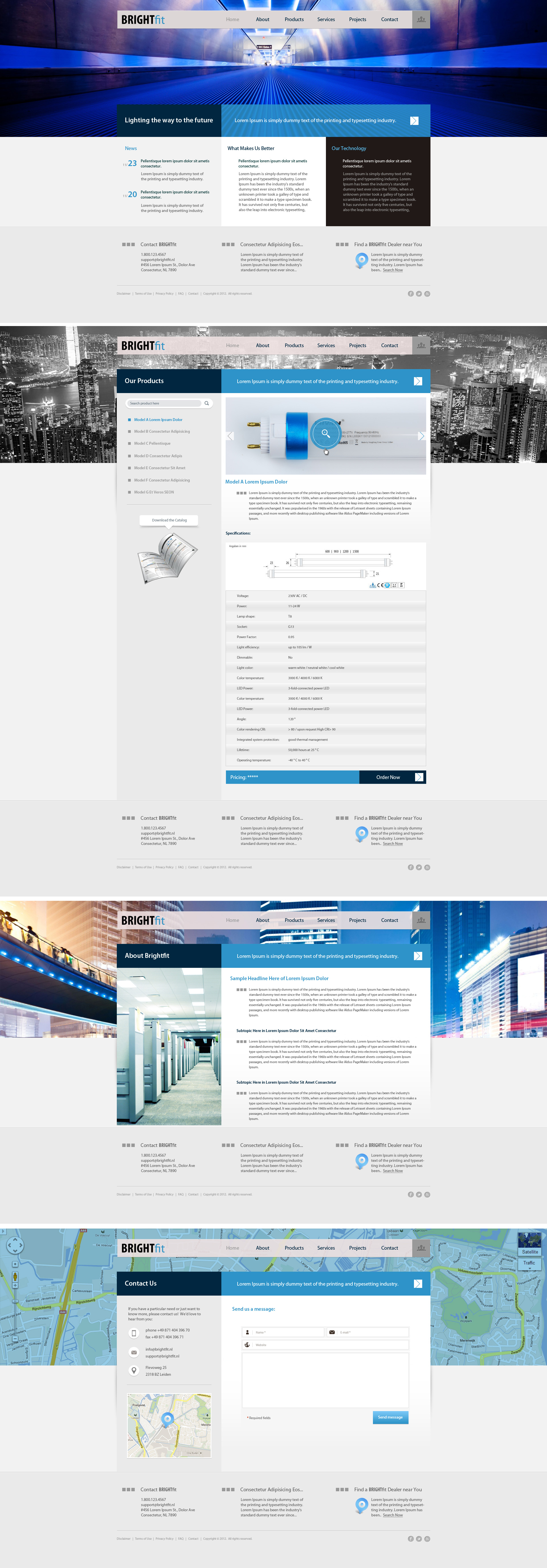Web Design for a LED Company by bojok-mlsjr