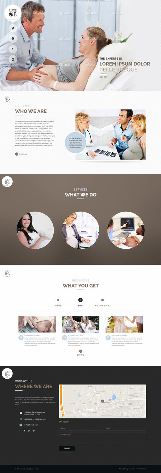 Web Page Design for OB Clinic by bojok-mlsjr