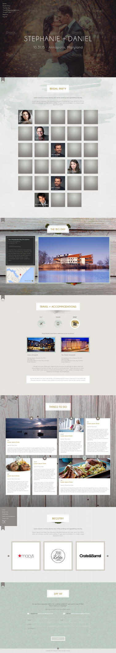 Web Page Design for a Wedding RSVP by bojok-mlsjr