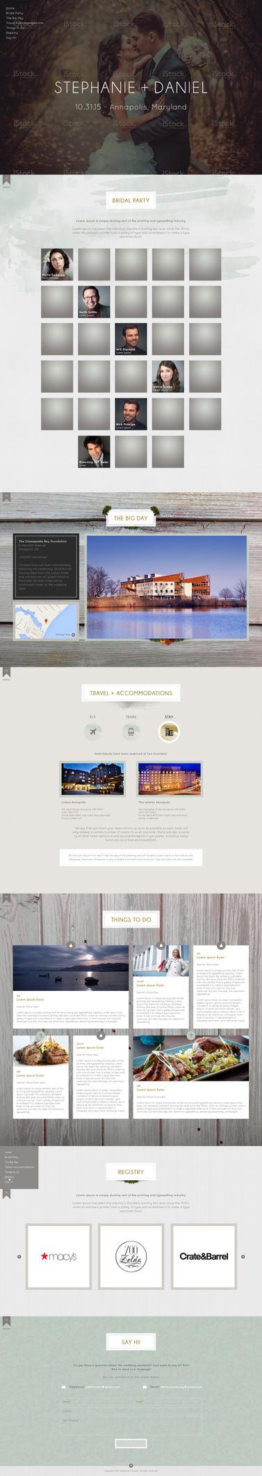 Web Page Design for a Wedding RSVP by bojok-mlsjr